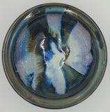 Liscom Hill Pottery - Black and Blue Lip-Edge Cereal Bowl