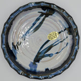 Liscom Hill Pottery - Black and Blue Pie Plate