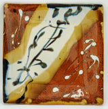 Liscom Hill Pottery - Black and Blue Landscape Square Plate