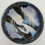 Liscom Hill Pottery - Black and Blue Serving Bowl