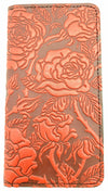 Leather Smartphone Wallet - Roses
