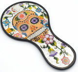 Reverse Painted Hand Mirror