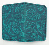 Leather Cardholder - Paisley