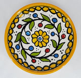 West Bank Ceramic Shallow Yellow Bowl