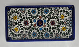 West Bank Ceramic Rectangular Blue Tray