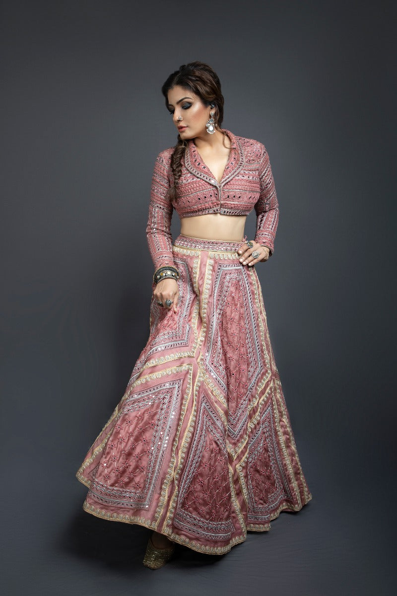 Raveena Tandon killing it in our rose pink lehenga set
