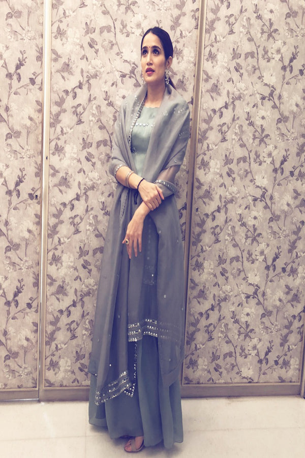 Sagarika Ghatge looks elegant in our kurta sharara set