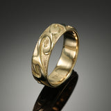 """Waves I"" band with tribal finish"