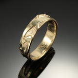 """Waves II"" Band with Tribal finish"