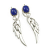Large Wing earrings with Lapis lazuli