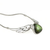 Wing Necklace with Labradorite