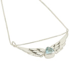 """Trillon"" Wing Necklace with Blue Sky Topaz"
