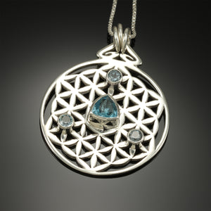 "Flower of Life ""Triad"" with Blue Topaz"