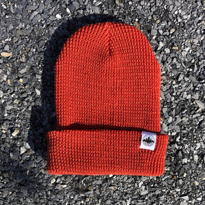 classic rooted waffle beanie