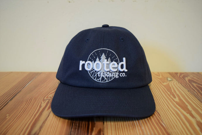 classic rooted logo dad hat (color options)