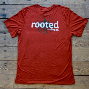 rooted original tee - brick