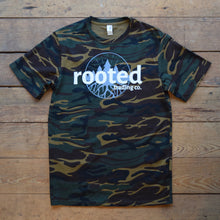 Load image into Gallery viewer, rooted original tee - camo