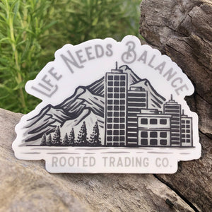 Life Needs Balance Sticker