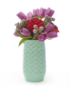"The Amaranth Vase - 7.5"" Smarter Vase for Floral Care in Teal"