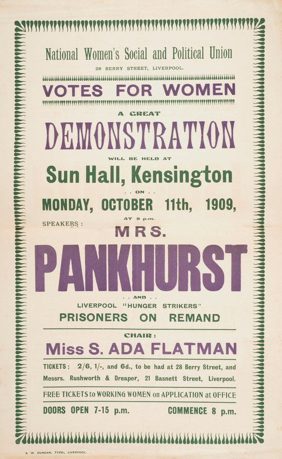 Suffrage Records scrapbook; 1908-1910