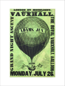 Vauxhall Gardens poster: 1858