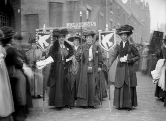 Suffragette procession of Journalists: 1909