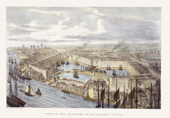 View of the proposed St. Katharine's Docks: 19th century