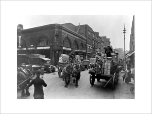 Covent Garden Underground Station from Long Acre: 20th century