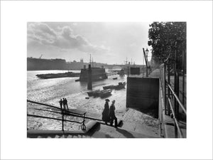 Looking southwest from Lower Custom House Stairs: 20th century