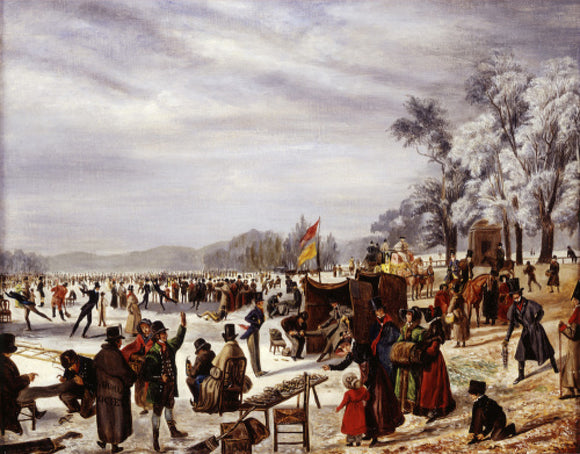 Skating on the Serpentine: 1838