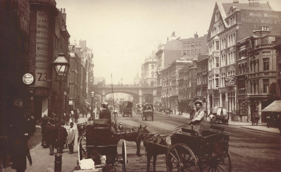 Farringdon Street, looking south towards Holborn Viaduct: c.1890