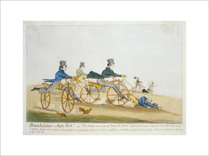 Perambulators in Hyde Park !: 1819