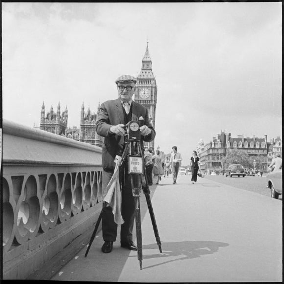 Street photographer Fred Williams on Westminster Bridge: 1970