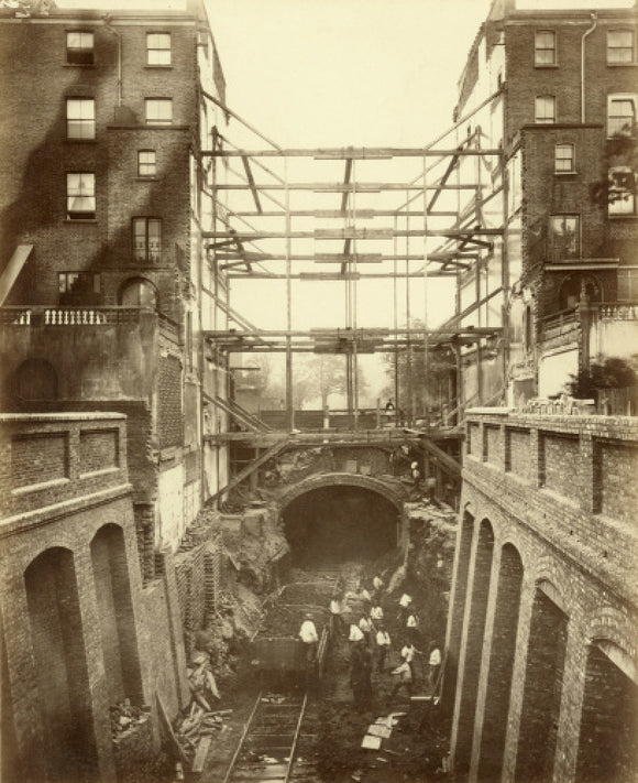 Construction of District Line underground railway: 19th century