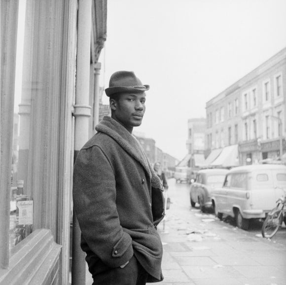 Man on a street in Notting Hill: 1961