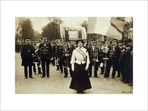 Miss Daisy Dugdale during the big procession of 22 December, 1908