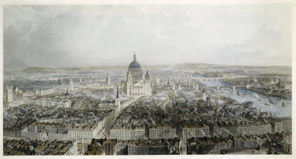 City of London from the West: 19th century