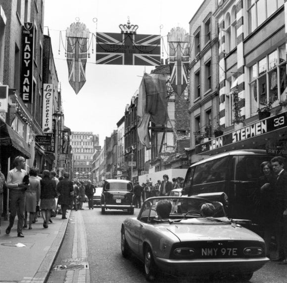 Carnaby Street during the 'swinging 60s': 1968