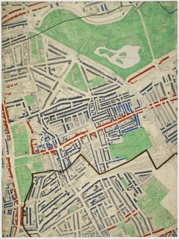 Descriptive map of London Poverty: Section 19: 1889