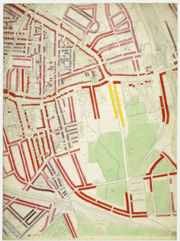 Descriptive map of London Poverty: Section 59: 1889