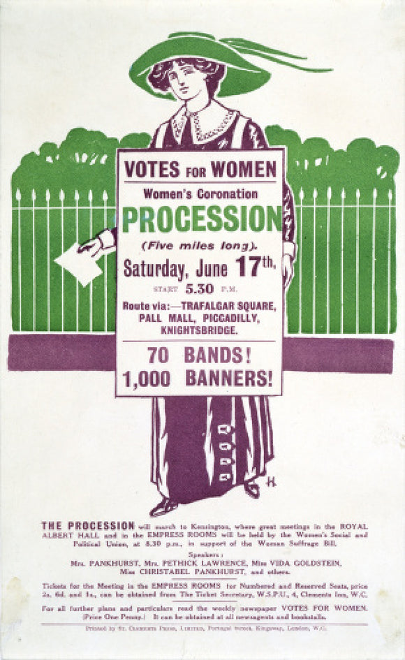Votes for Women Handbill: 1911