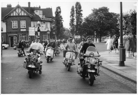 Mods' on scooters; 1964