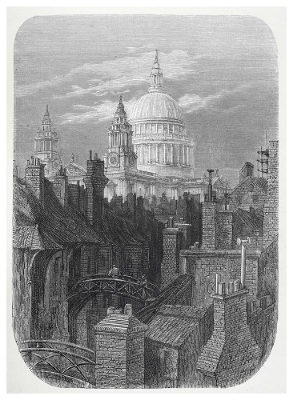 St Pauls from the brewery bridge: 1872