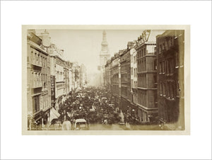 Cheapside with Bow Church; c.1880