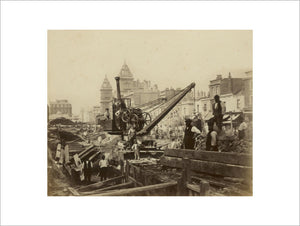 The construction of the Metropolitan District Railway; c.1867