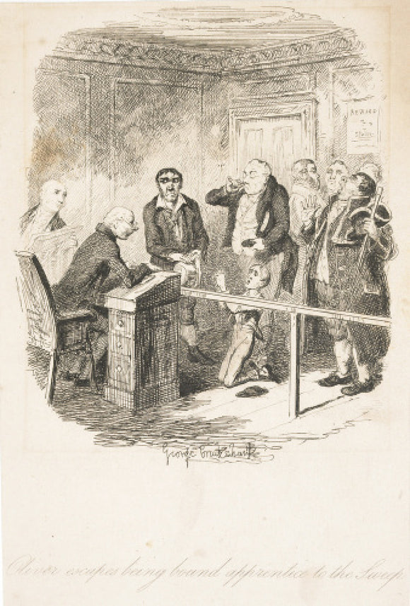 Oliver escapes being bound apprentice to the sweep:1838