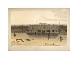 Somerset House from the River Thames; 1805