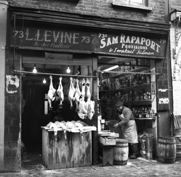 Two East End shops. c.1955