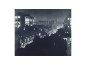 View over London at night; 1934