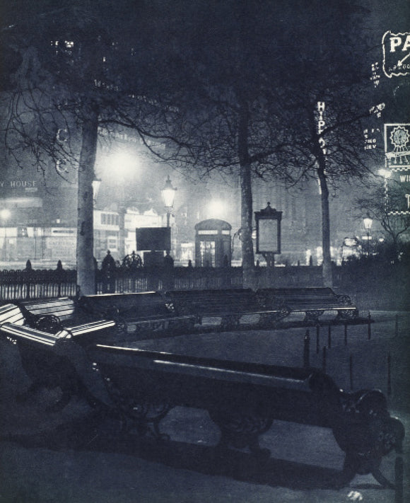 Leicester Square at night; 1934